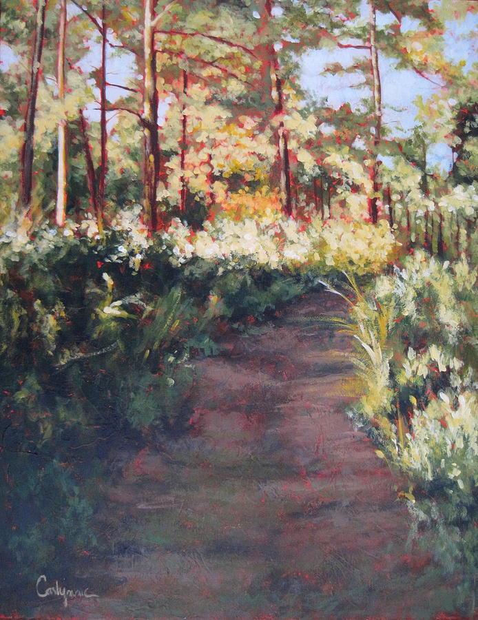 Prairie Painting - Prairie Walk by Carlynne Hershberger