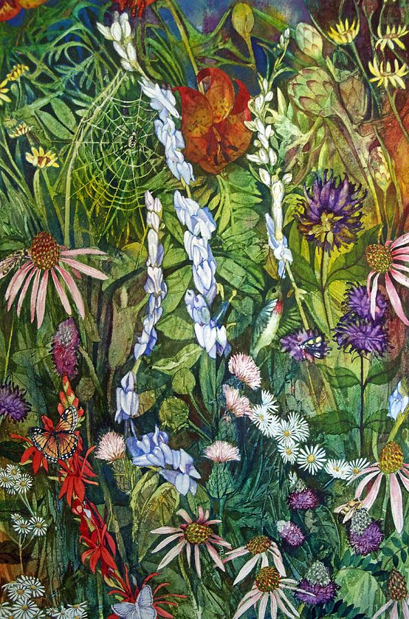 Prairie Painting - Prairie Web by Helen Klebesadel