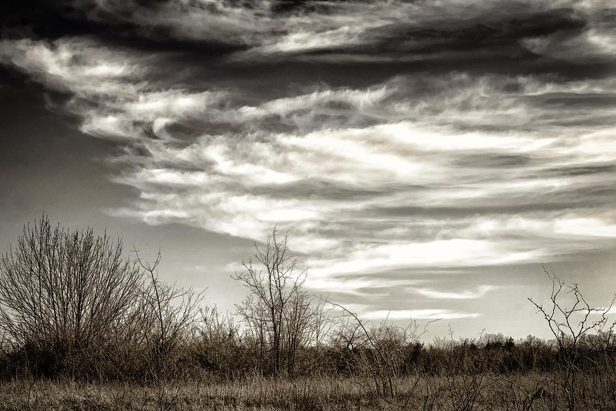 Texas Photograph - Prairie Winter Sky by Joan Carroll