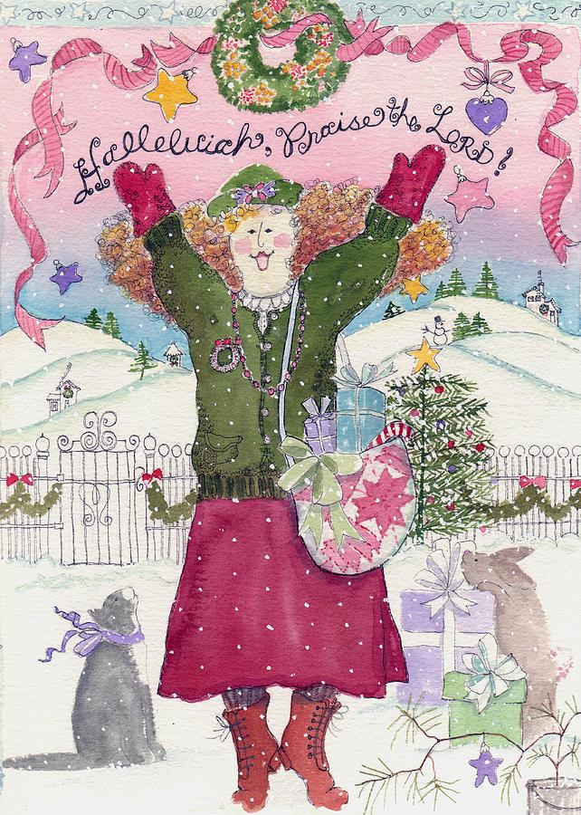 Halleluia Painting - Praise The Lord Christmas by Deborah Burow