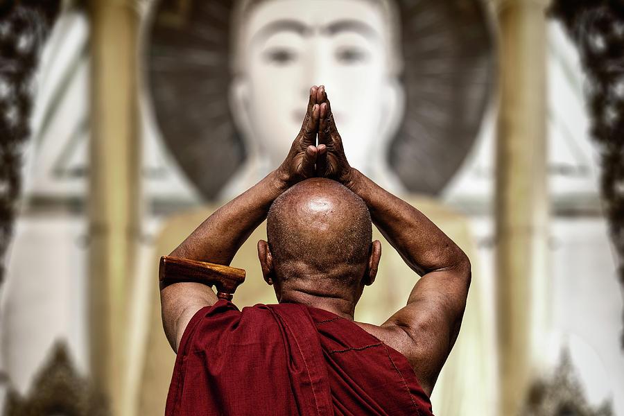 Monk Photograph - Praise by Tom Baetsen -