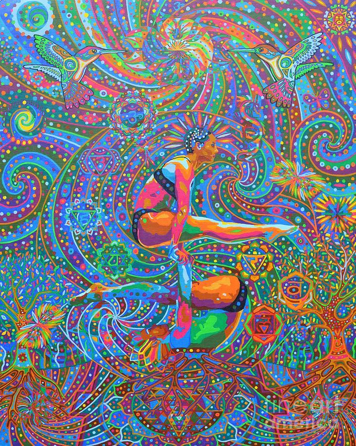 Acro Yoga Painting - Prana Flow - 2014 by Karmym