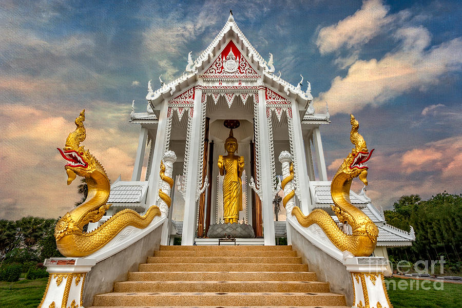 Hdr Photograph - Pranburi Temple by Adrian Evans
