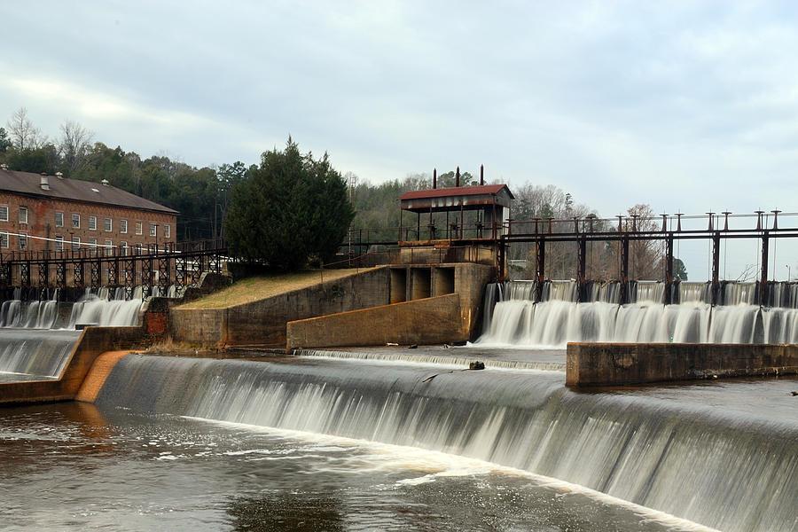 Dam Photograph - Prattville Dam Prattville Alabama by Charles Beeler