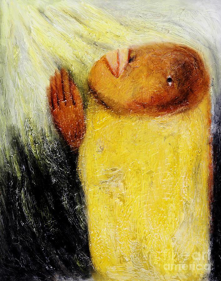 Monk Painting - Pray -2012 by Nalidsa Sukprasert