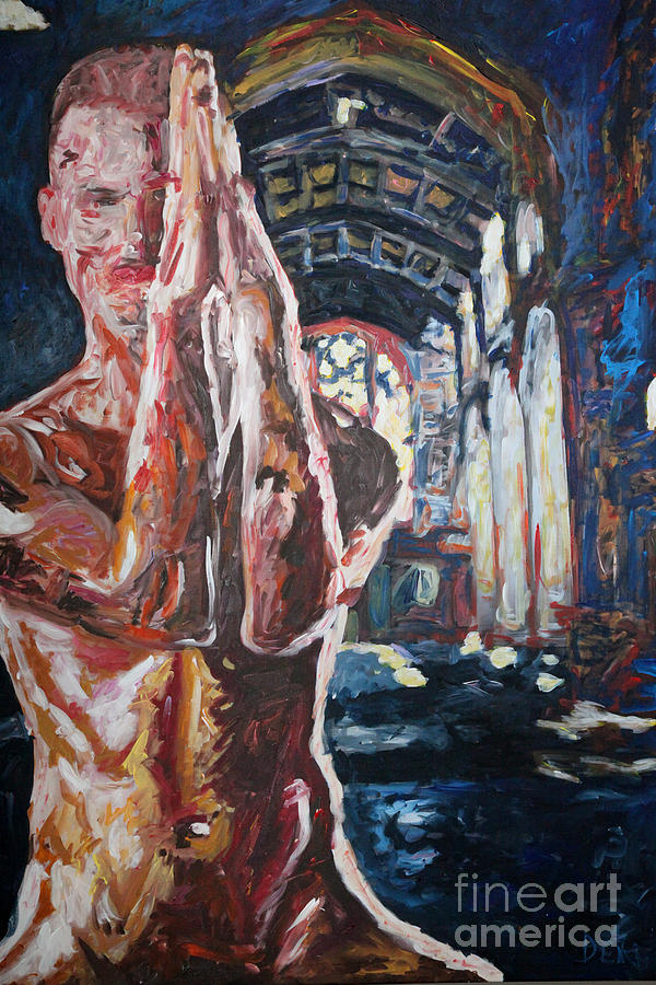 Act Painting - Pray - 2667 by Lars  Deike