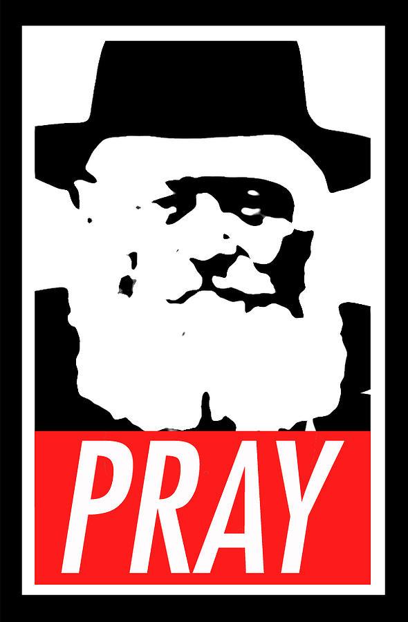 Obey Mixed Media - Pray by Anshie Kagan