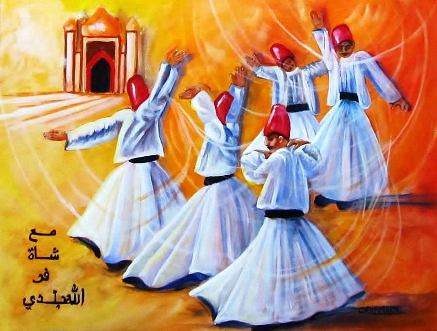 Whirling Painting - Prayer Circles by Carol Allen Anfinsen