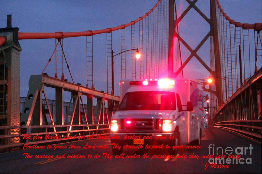 Prayer For Emergency Health Care First Responders Photograph by John Malone