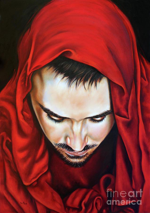 Jesus Painting - Prayer Of Jeshua by Ilse Kleyn