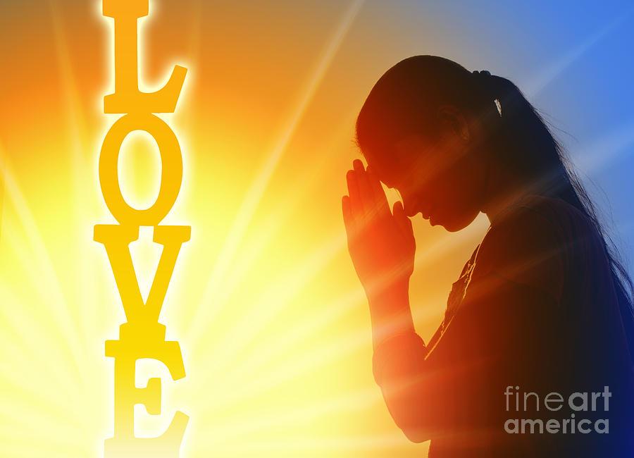 Girl Photograph - Prayer Of Love by Tim Gainey