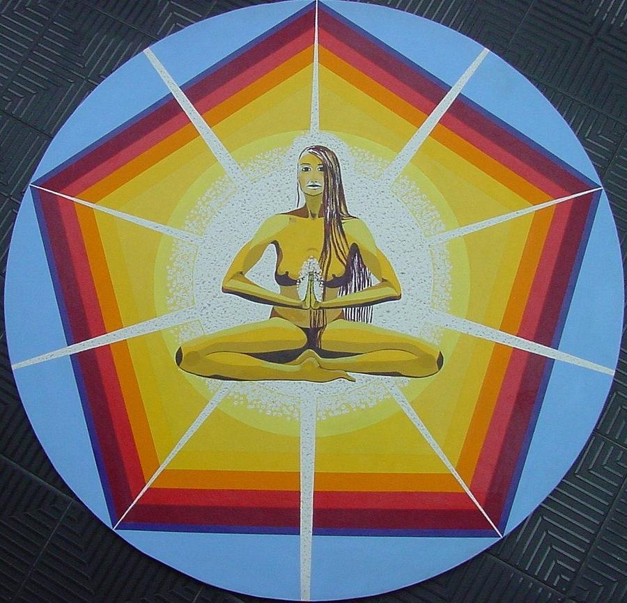 Meditation Painting - Prayer by Rosanna Martella