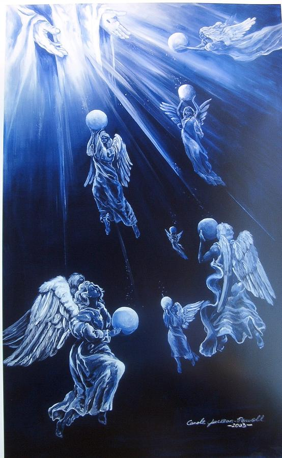 Angels Painting - Prayers Ascent by Carole Powell