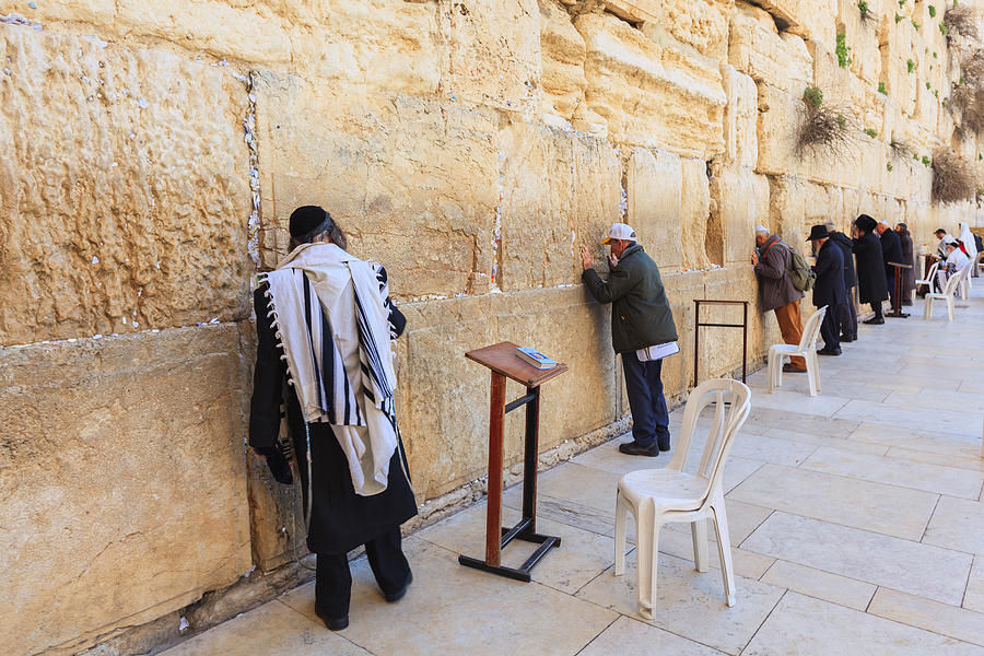 Prayers At The Western Wall In Jerusalem Photograph by FredFroese
