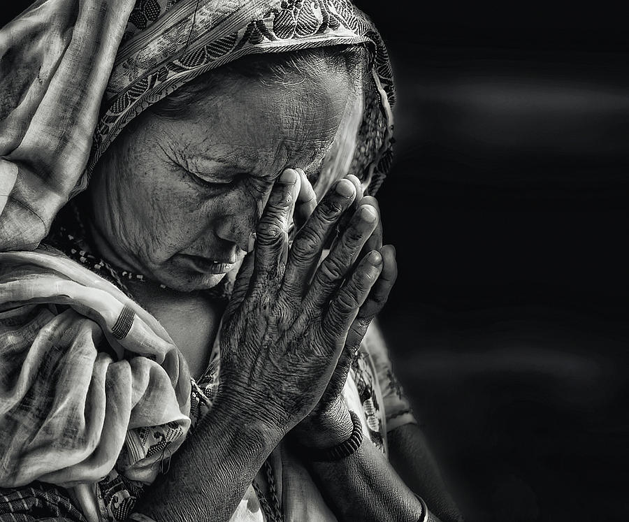 Lady Photograph - Prayers by Piet Flour