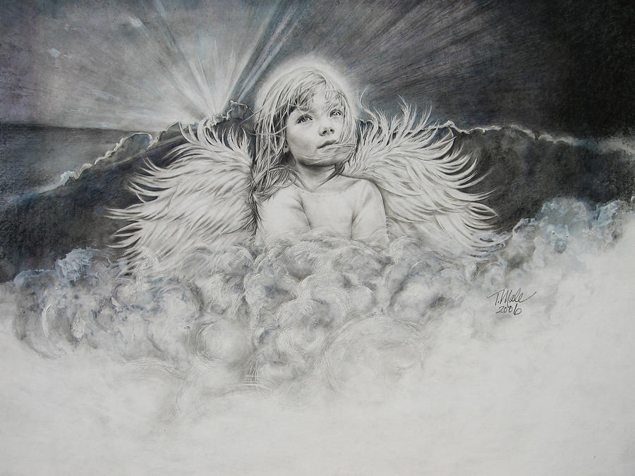 Prayer Drawing Drawing - Prayers To An Angel by Tracy Male