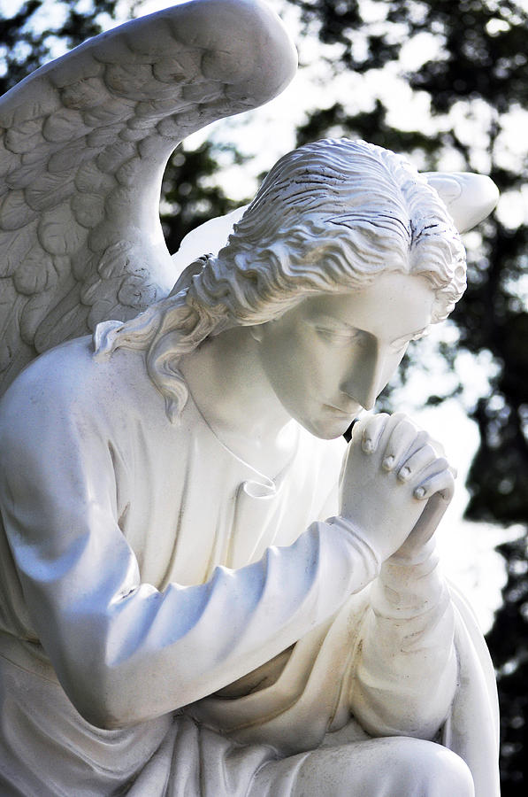Praying Angel Closeup Photograph By Sally Rockefeller