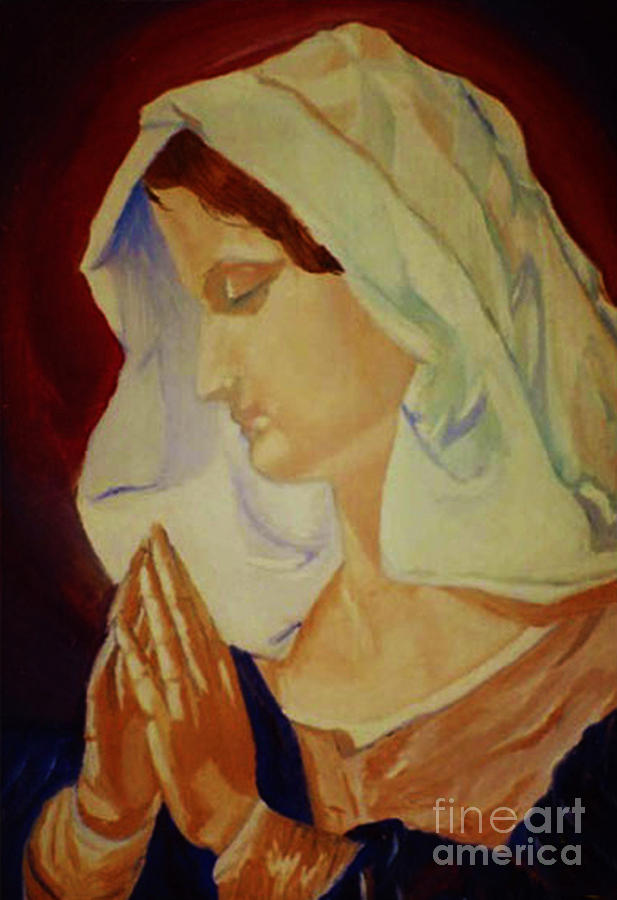 Women Painting - Praying by Donna C