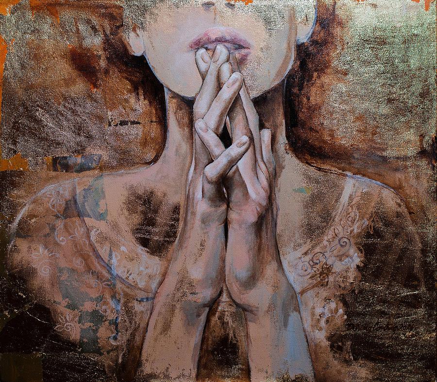 Pray Painting - Praying by Dorina  Costras