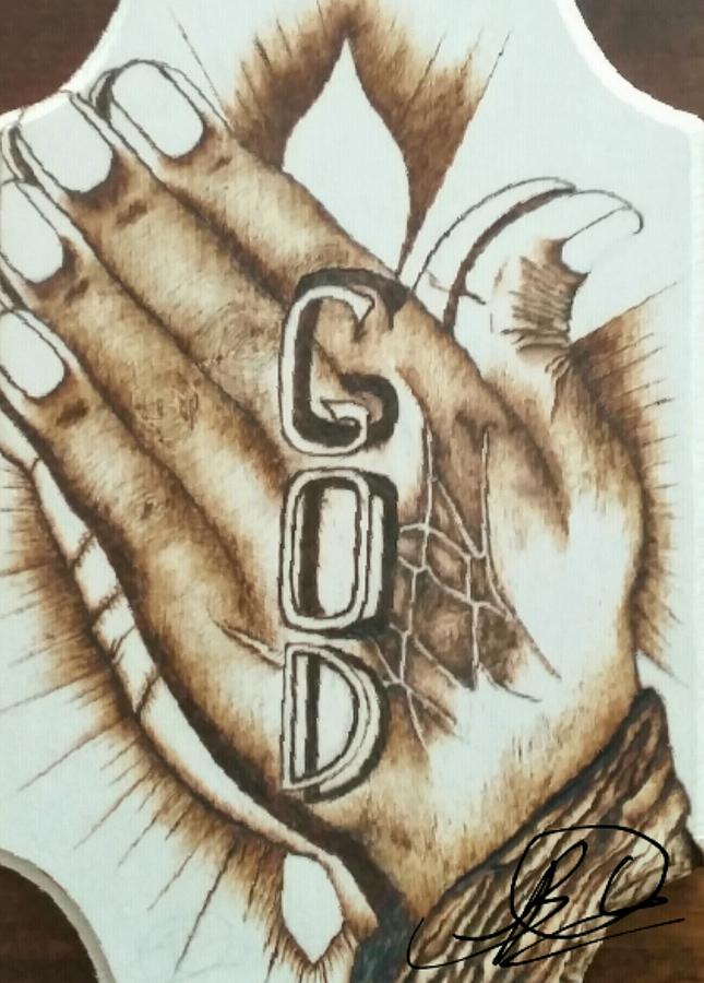 Praying Hand's Drawing by Bryan Oes