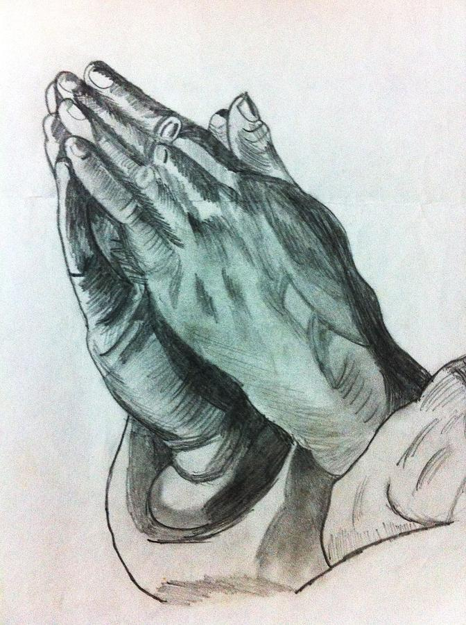 Praying Hands Drawing by Divya Engarsal