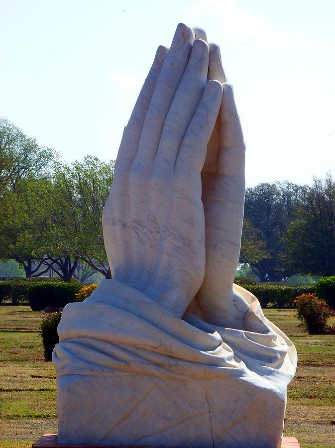 Pray Photograph - Praying Hands Statue by David G Paul