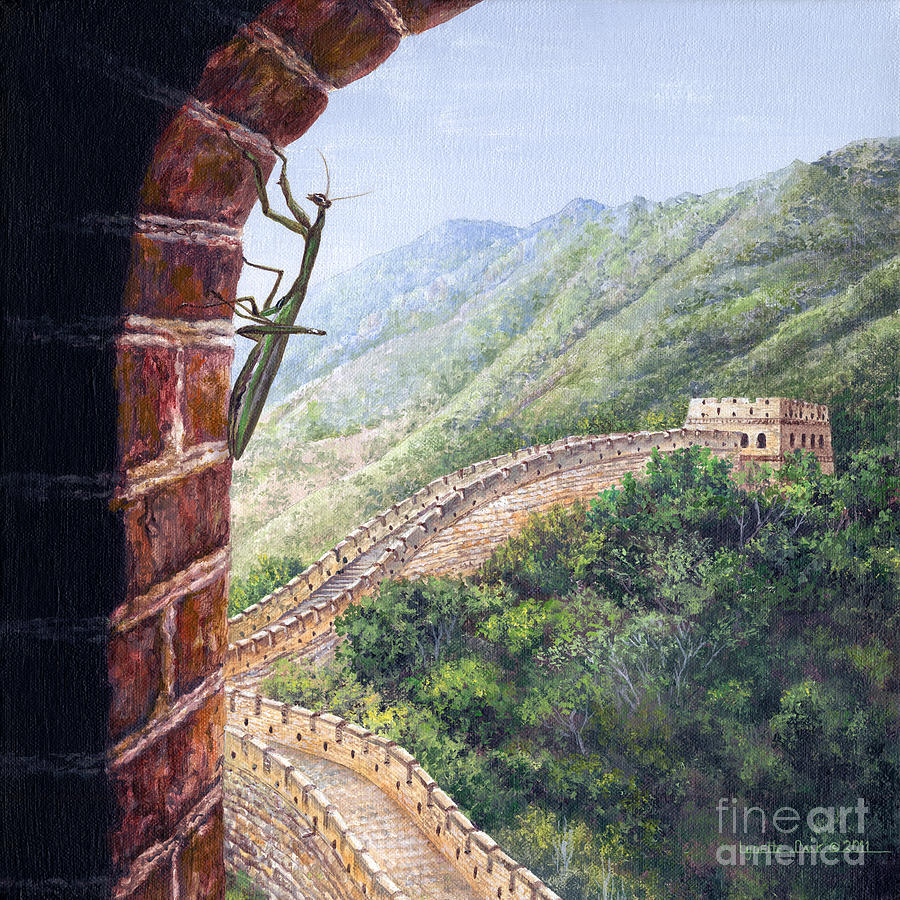 Lynette Cook Painting - Praying Mantis by Lynette Cook