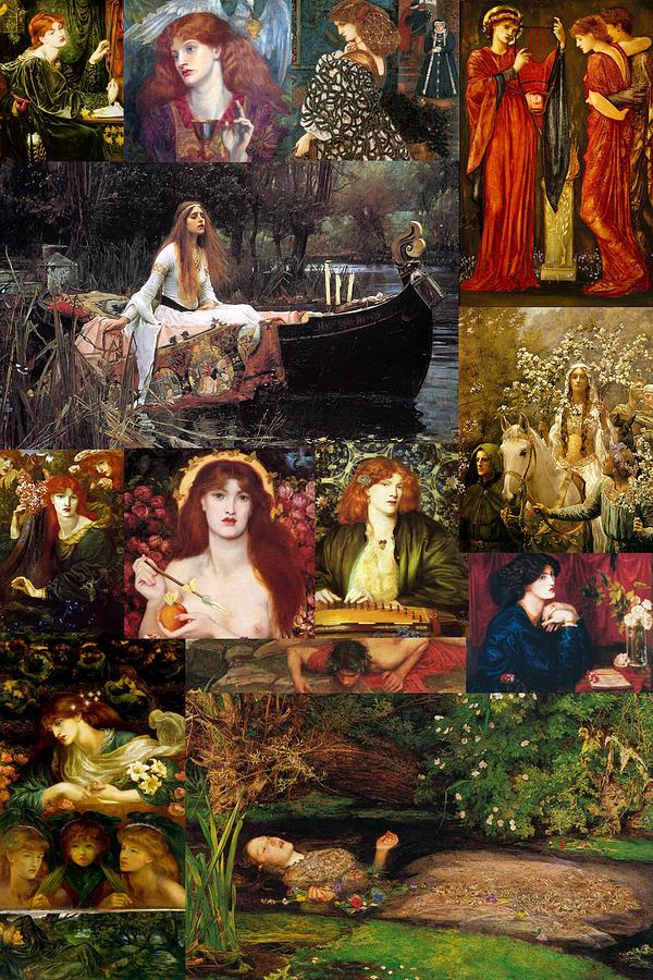 Pre-raphaelite Painting - Pre Raphaelite Collage by Philip Ralley