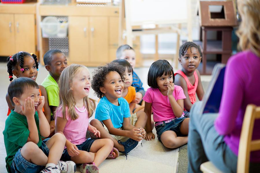 Pre-school children Photograph by FatCamera