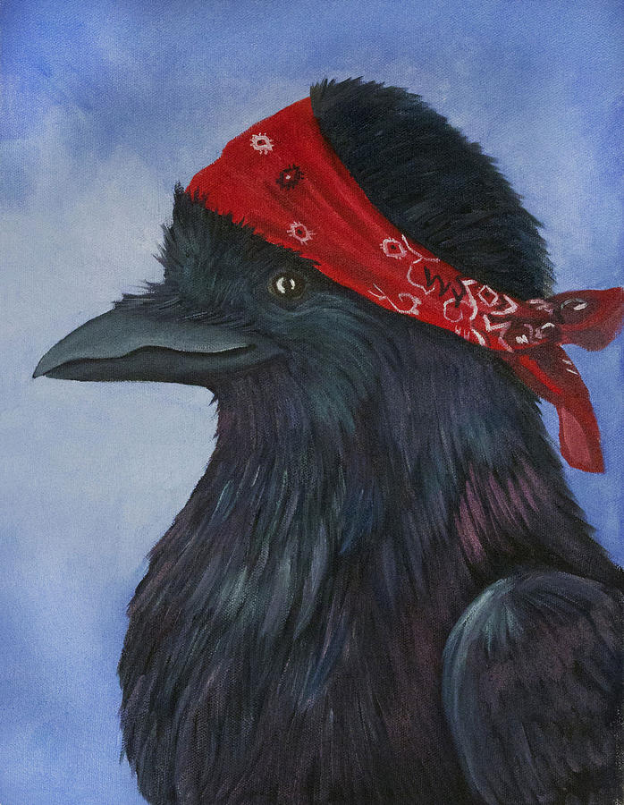 Raven Painting - Precious by Amy Reisland-Speer