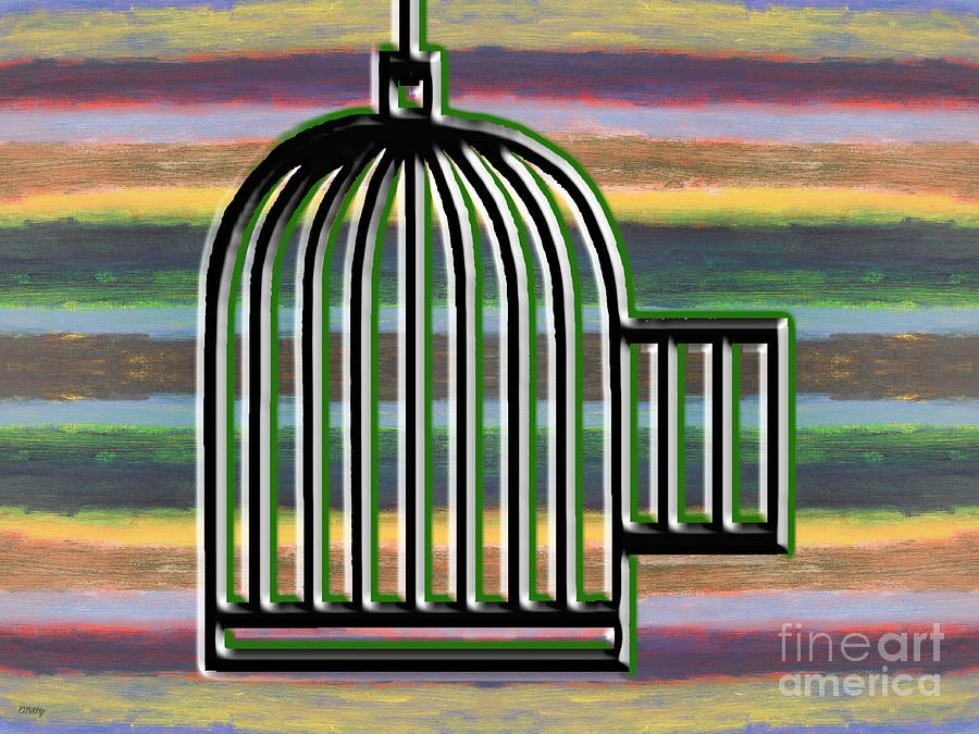 Freedom.cage Painting - Precious Freedom by Patrick J Murphy