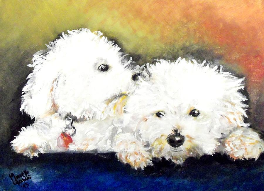 Dogs Painting - Precious by Marcello Cicchini