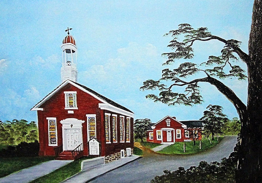 Country Church Painting - Precious Memories by Darlene Prowell