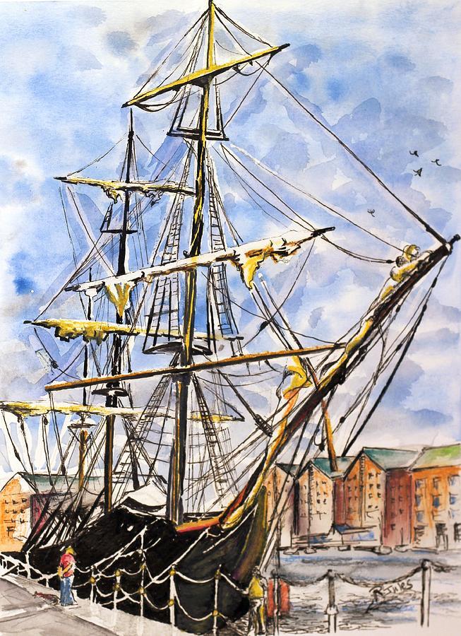 Boat Painting - Precious Riggings by Richard Jules