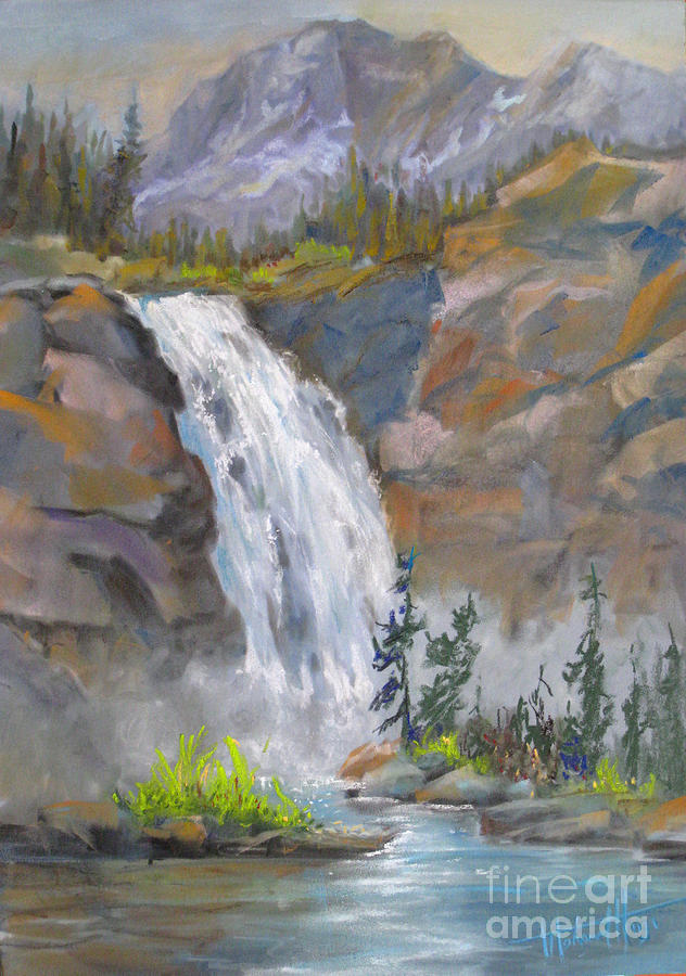 Background Painting - Precipitous Falls by Mohamed Hirji