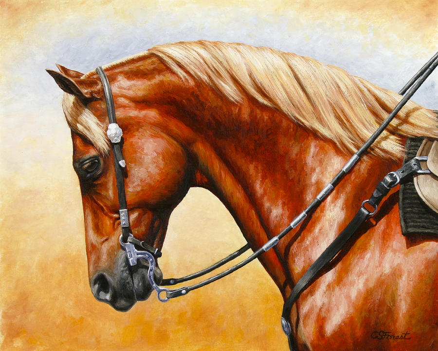 Horse Painting - Precision - Horse Painting by Crista Forest