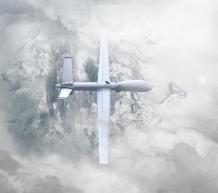 Predator Drone On Patrol Photograph by Colin Anderson