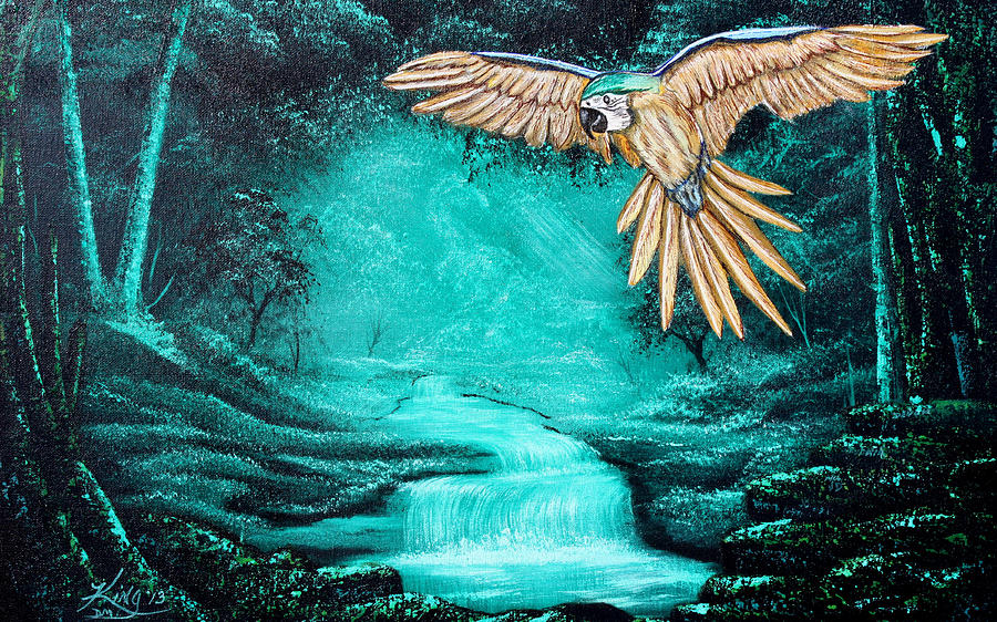 Russell E. King Painting - Predator Or Prey by Russell  King