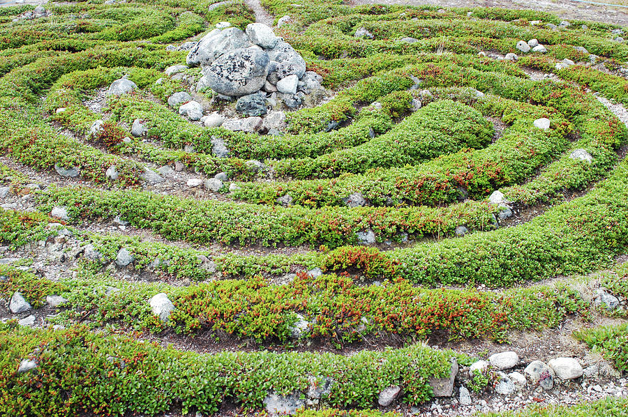 Maze Photograph - Prehistoric Labyrinth by Thomas Nilsen/science Photo Library