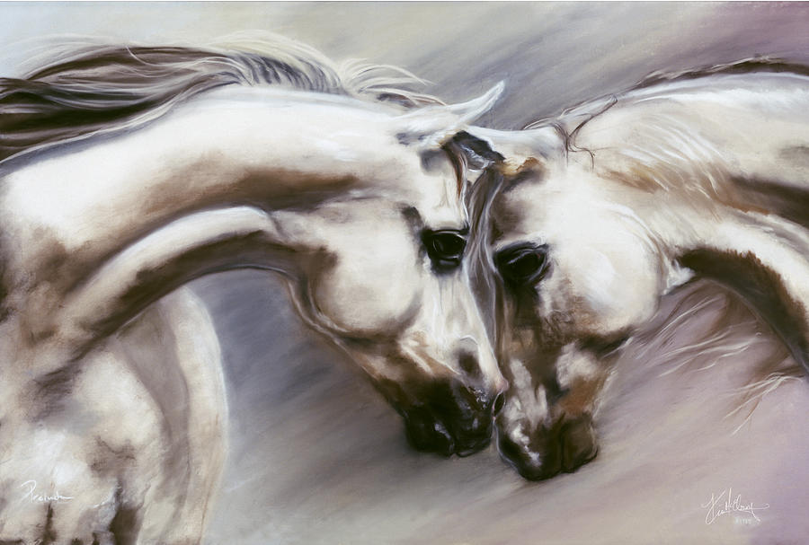 White Horses Pastel - Prelude by Kim McElroy