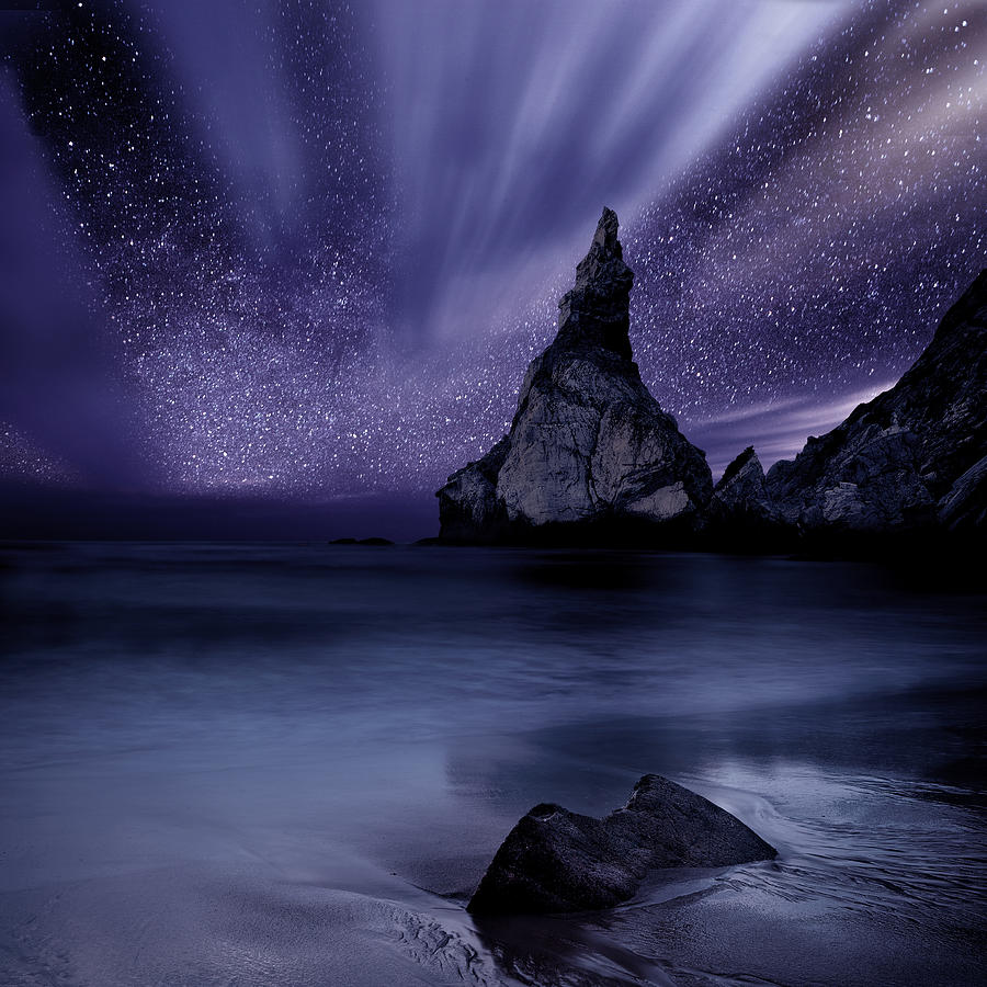 Night Photograph - Prelude To Divinity by Jorge Maia