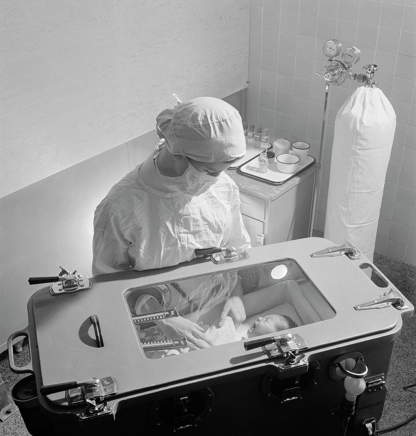 Human Photograph - Premature Baby Unit by Library Of Congress
