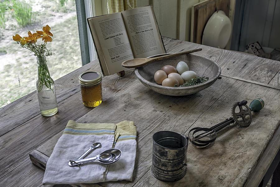 Preparing Dinner With Marjorie Photograph - Preparing Dinner With Marjorie  by Lynn Palmer