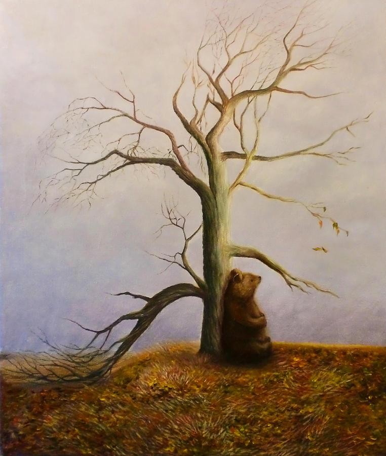 Nature Painting - Preparing  by Helene Fallstrom