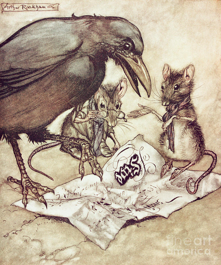 Mice Drawing - Preposterous Cried Solomon In A Rage From Peter Pan In Kensington Gardens by Arthur Rackham