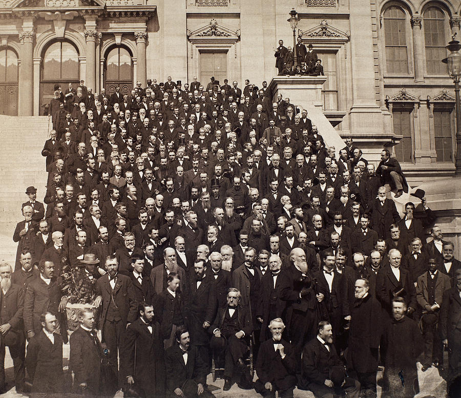 1882 Photograph - Presbyterian Assembly, 1882 by Granger