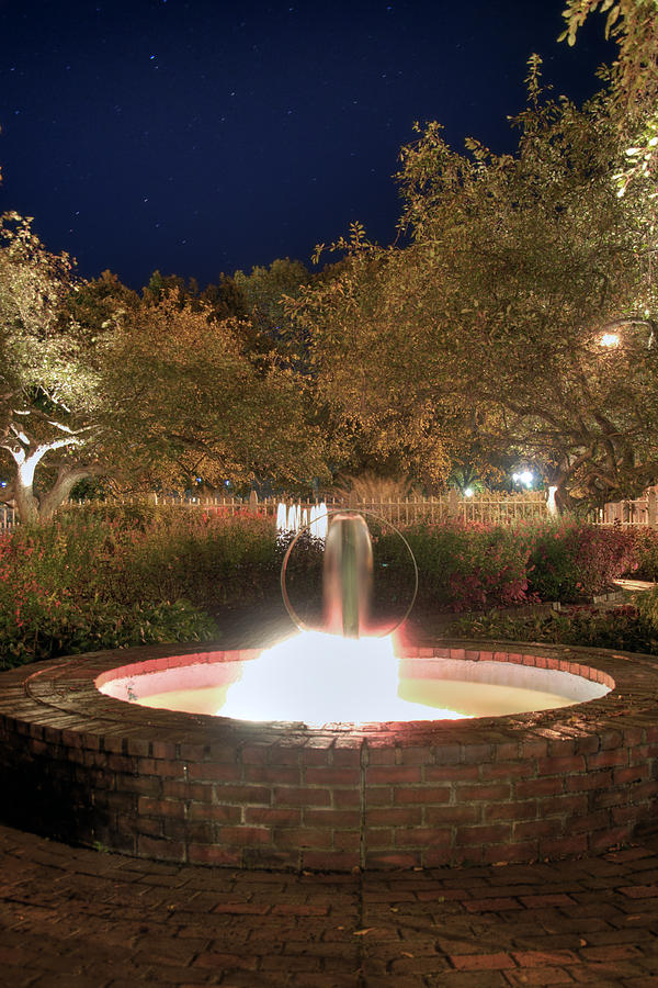 Prescott Park Photograph - Prescott Park Fountain by Joann Vitali