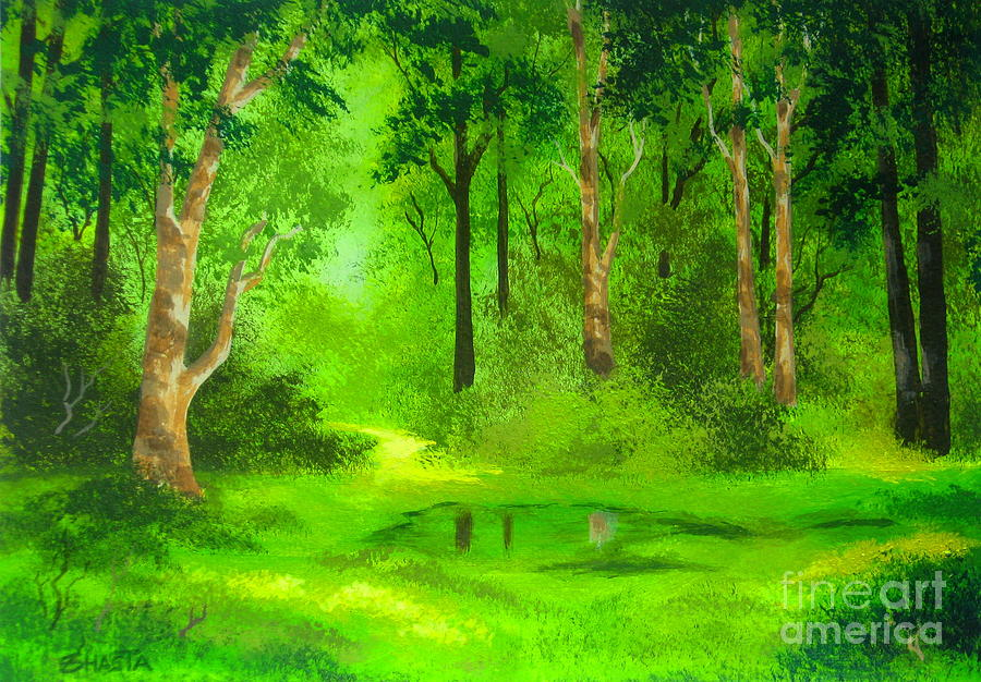 Spring Painting - Presence  Of  Spring by Shasta Eone