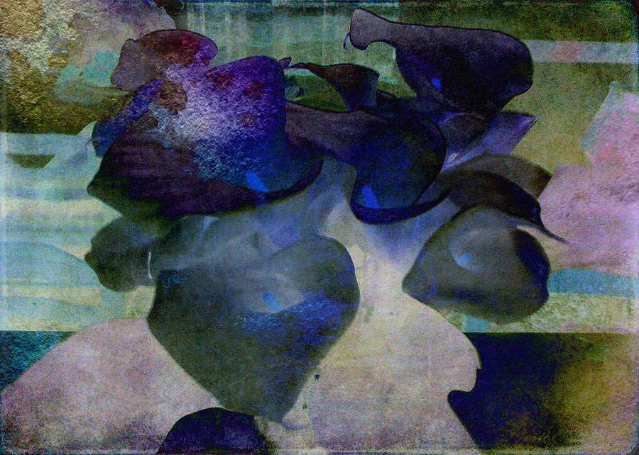 Purple Digital Art - Present Abstract by Sarah Vernon
