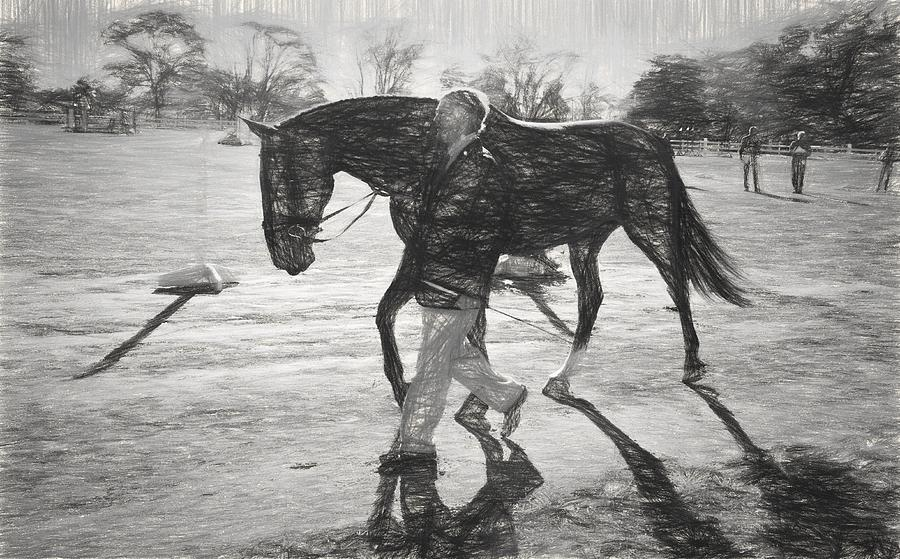 Fairhill International Photograph - Presentation In Charcoal by Alice Gipson
